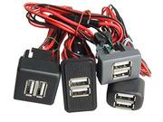 USB зарядное устройство в панель авто Лада,  Газели